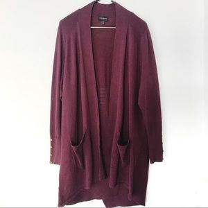 Lane Bryant Open Front Duster Cardigan